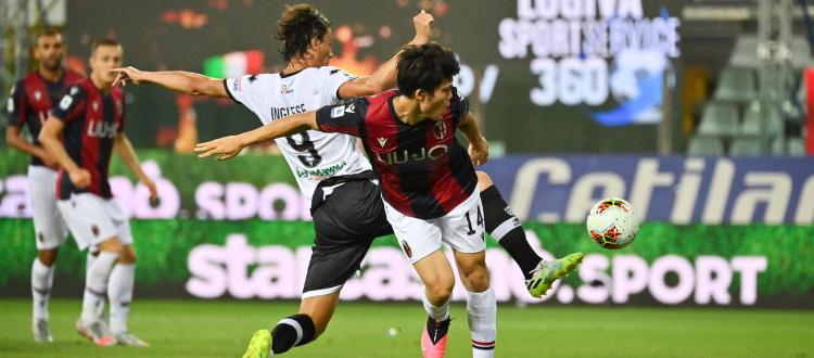 Harakiri rossoblù a Parma: avanti con Danilo e Soriano e in pieno controllo, il Bologna si fa raggiungere sul 2-2 nel recupero