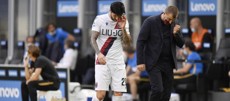 Mano pesante del Giudice Sportivo con Soriano: due turni di squalifica. Salvo ricorso, il centrocampista salterà Sassuolo e Parma