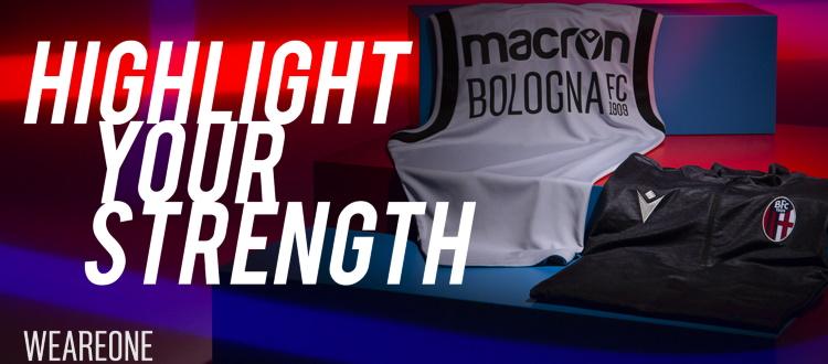 Bologna e Macron presentano la collezione Training & Travel per la stagione 2020-2021