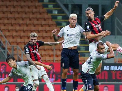 Milan più forte e più in forma, il Bologna fa quel che può: al Meazza 2-0 rossonero con doppietta di Ibrahimovic