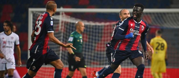 Il Bologna si riprende la vittoria con gioco e attributi: Cagliari k.o. 3-2, gol di Soriano e doppietta al bacio di Barrow
