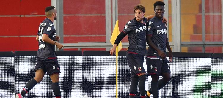 Nel 2017 l'unica sfida in A tra Benevento e Bologna al Vigorito: vittoria rossoblù con Donsah