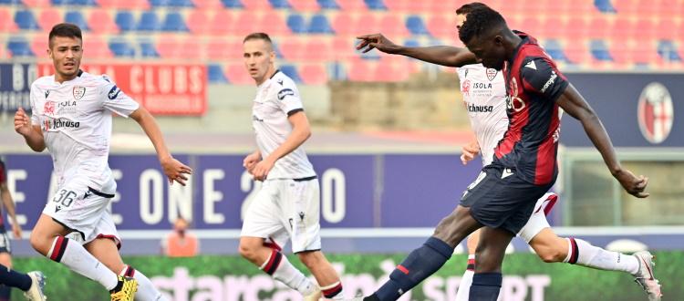 Bologna-Cagliari, si riparte dall'1-1 del 1° luglio. In Serie A 15 successi felsinei e 6 sardi, 9 i pareggi