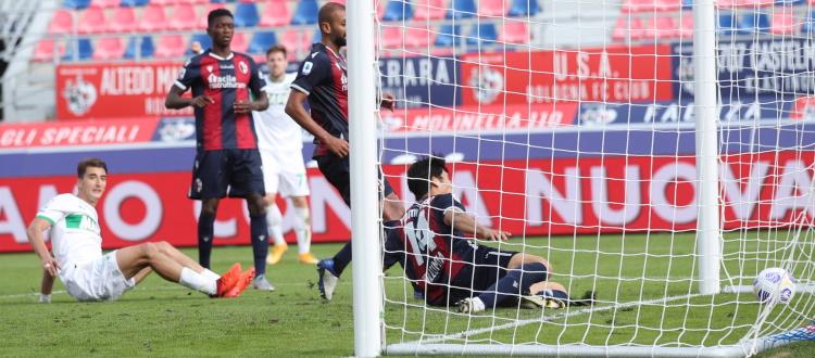 Il Bologna diverte e va avanti 3-1, poi l'incredibile rimonta: al Dall'Ara vince il Sassuolo 4-3