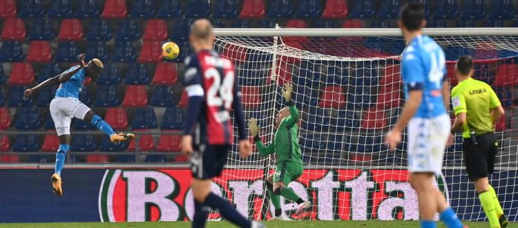 Il Bologna si sveglia tardi e si divora il pareggio con Orsolini, al Napoli basta Osimhen: 0-1 al Dall'Ara