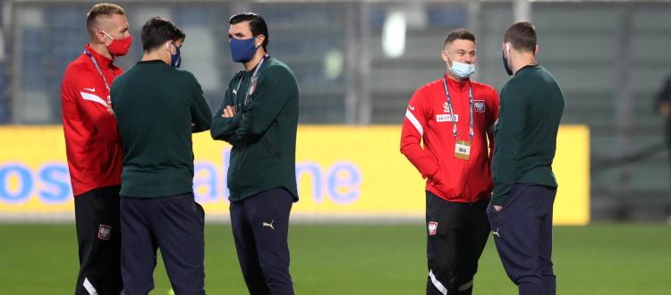 L'Italia batte 2-0 la Polonia, non utilizzati Orsolini, Soriano e Skorupski. Vignato si aggrega all'Under 21, Baldursson vola a Wembley