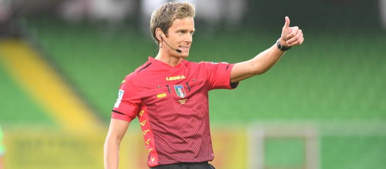 Bologna-Atalanta sarà diretta da Daniele Chiffi di Padova