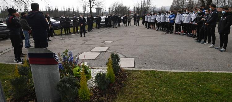 Vent'anni fa la scomparsa di Niccolò Galli, a Casteldebole la commemorazione del difensore rossoblù