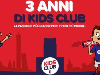Il Kids Club del Bologna, dedicato ai tifosi under 14, compie 3 anni