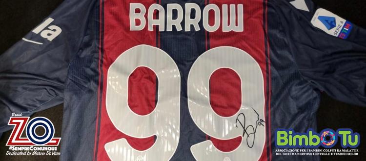 Si è conclusa l'asta su eBay per la maglia del Bologna di Barrow, l'intero ricavato devoluto a Bimbo Tu