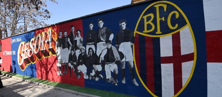 Inaugurato in via Paolo Fabbri il murale che rievoca lo storico Campo della Cesoia