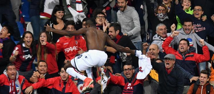 Okwonkwo l'ultimo match winner del Bologna al Mapei Stadium, nel novembre 2019 successo del Sassuolo 3-1