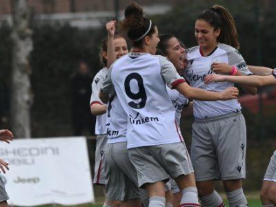 Il Bologna Femminile fa 8 su 8 e consolida il primo posto: secco 4-1 a Spoleto, Hassanaine sugli scudi