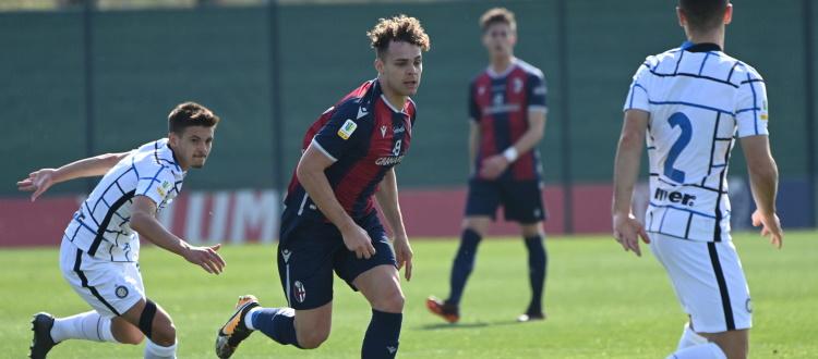Brutto errore di Molla e l'Inter ne approfitta: a Casteldebole la decide Bonfanti, Bologna Primavera piegato 1-0