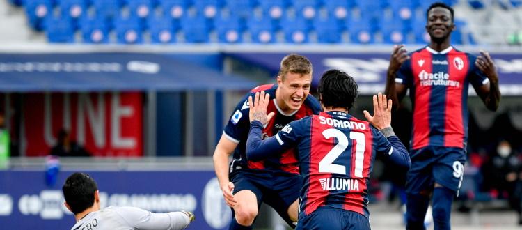 Il Bologna soffre ma la spunta con qualità: Barrow, Svanberg e Soriano mandano al tappeto la Sampdoria, 3-1 al Dall'Ara