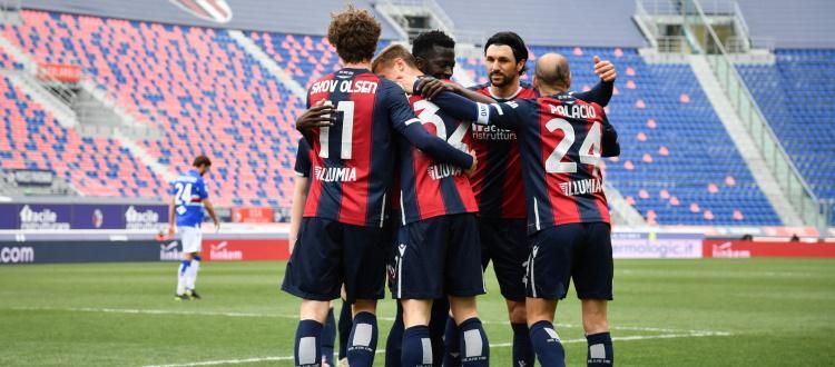 Orsolini, Barrow, Palacio e Soriano (9 gol, record personale) sono fra i primi 100 marcatori nella storia del Bologna