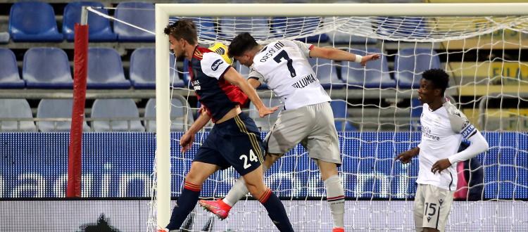 Il Bologna spreca un'altra occasione per crescere, al Cagliari basta un'incornata di Rugani: 1-0 alla Sardegna Arena