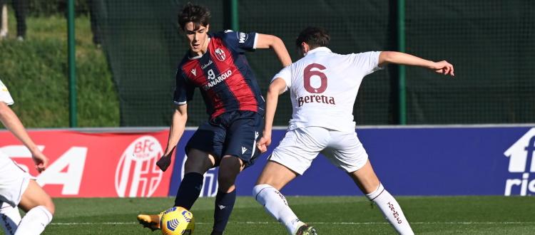 Bologna Primavera fermato sull'1-1 dal Torino a Casteldebole, per Pagliuca gol ed espulsione
