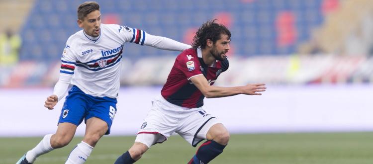 Bologna-Sampdoria, tanti ex dentro e fuori dal campo. In Serie A 22 successi rossoblù e 7 blucerchiati, 18 i pareggi