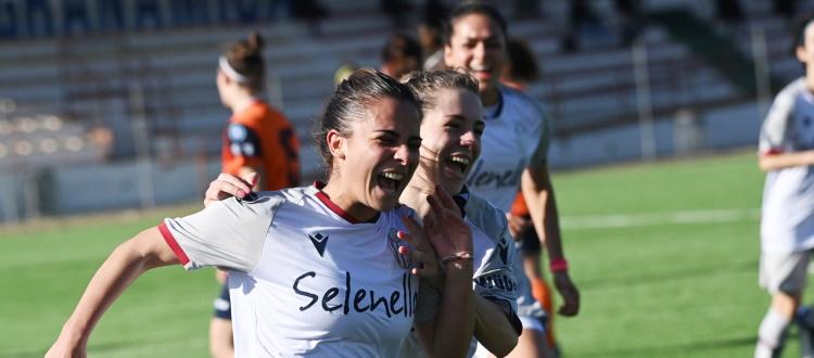 Il Bologna Femminile continua a vincere e convincere: Pistoiese regolata 2-0 grazie a Racioppo e Sciarrone