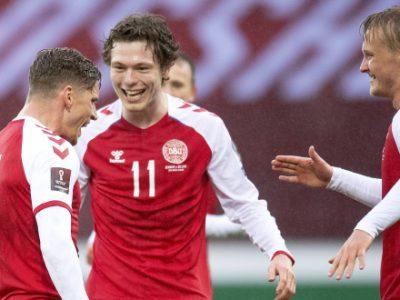 Due assist per Skov Olsen con la Danimarca, Antov titolare contro l'Italia, Soriano ancora in tribuna