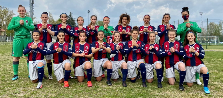 Bologna Femminile, bella vittoria 2-0 contro l'Aprilia Racing e gesto importante per l'iniziativa 'Atleti al tuo fianco'