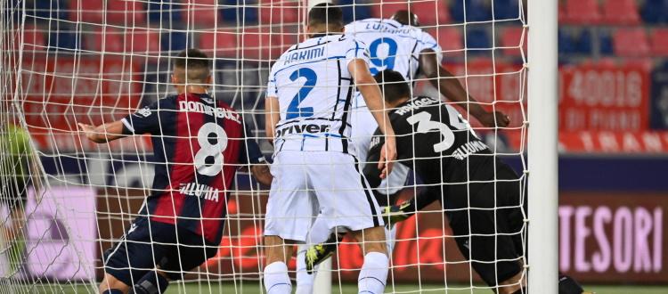 All'Inter basta un guizzo del solito Lukaku, un Bologna bello e orgoglioso cede 1-0 al Dall'Ara