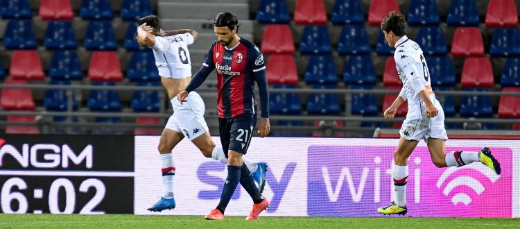 Bologna, salvezza nel grigiore: un buon primo tempo non basta, il Genoa sbanca 2-0 il Dall'Ara col minimo sforzo