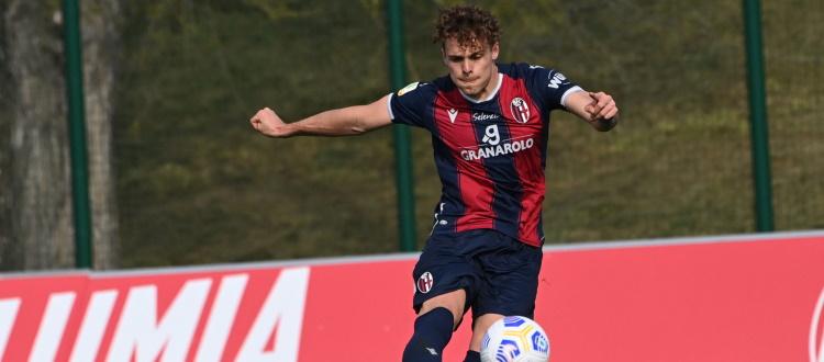 Errori e sfortuna, il Bologna Primavera cade 4-1 a Bergamo. A segno Vergani, Farinelli sbaglia un rigore
