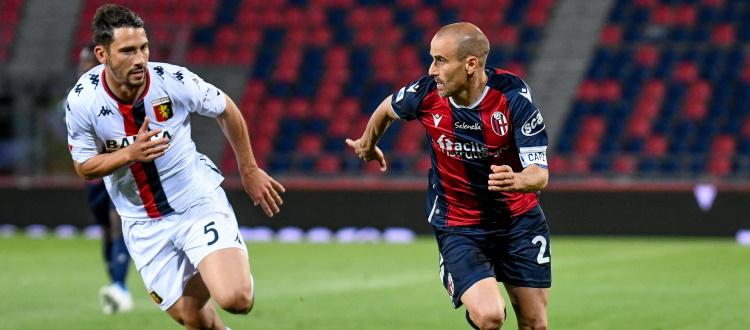 Bologna fragile dietro e sterile davanti: Danilo in confusione, Barrow si eclissa presto, Palacio l'ultimo ad arrendersi