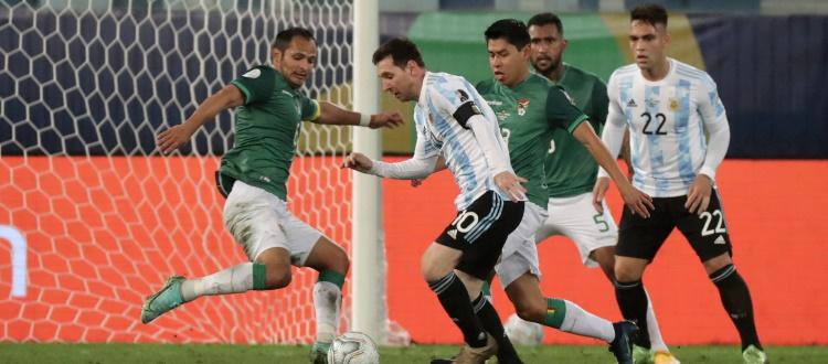 L'Argentina avanza alla grande in Coppa America: 4-1 alla Bolivia, spezzone di gara anche per Dominguez