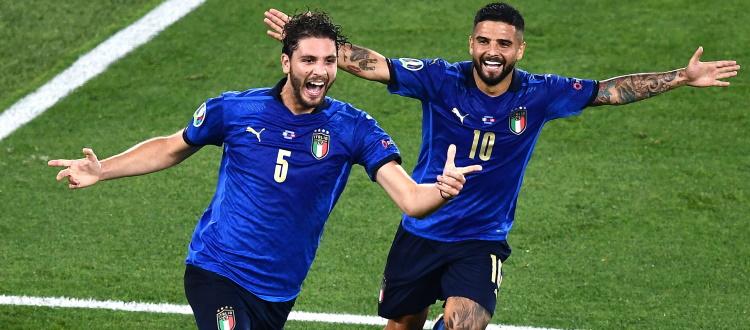 Nuovo show dell'Italia agli Europei, ottavi già in tasca: 3-0 anche alla Svizzera, doppietta di un super Locatelli e sigillo di Immobile