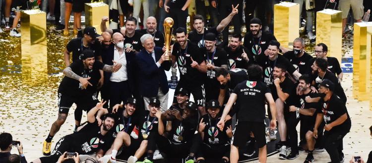 Basket, la Virtus Bologna è campione d'Italia: finale contro Milano chiusa 4-0, 16° scudetto per le V nere