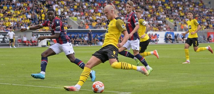 Bologna rimaneggiato e ancora indietro, Borussia Dortmund già in grande spolvero: 3-0 per i tedeschi nel test di Altach