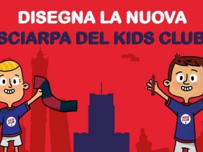 Disegna la nuova sciarpa del Kids Club: info e modalità d'iscrizione