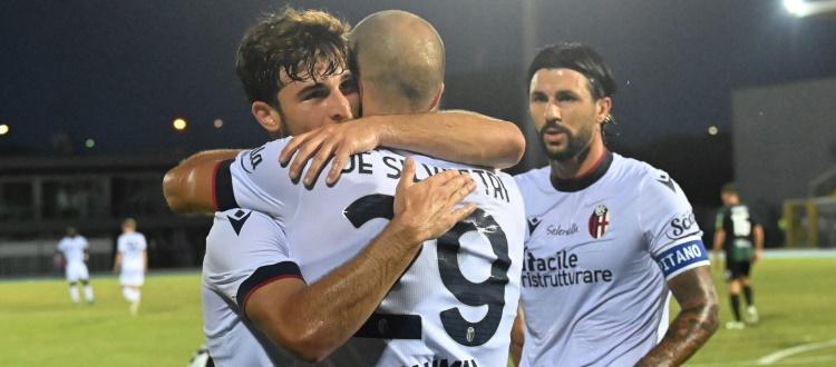 Gol e spettacolo tra Bologna e Pordenone: 4-2 rossoblù con De Silvestri, Dominguez, Vignato e Santander, buon debutto di Arnautovic