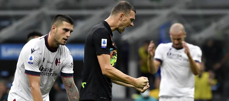 Bologna minuscolo, l'Inter va a nozze: figuraccia rossoblù, al Meazza finisce 6-1
