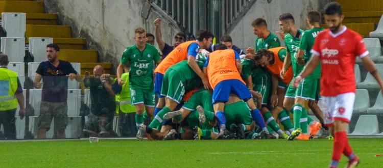 Rabbi comincia a conquistare Piacenza: nel 2-2 di Trieste il primo gol tra i professionisti dell'attaccante bolognese