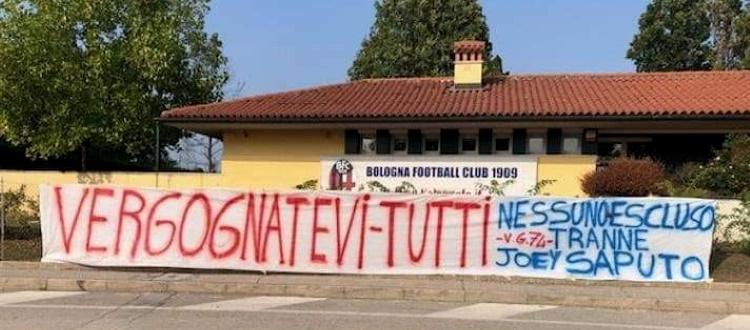 Bologna, striscione di contestazione a Casteldebole: