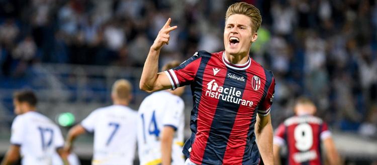 Bologna, esame di maturità superato: Verona k.o. 1-0 con Svanberg, i rossoblù salgono a 7 punti