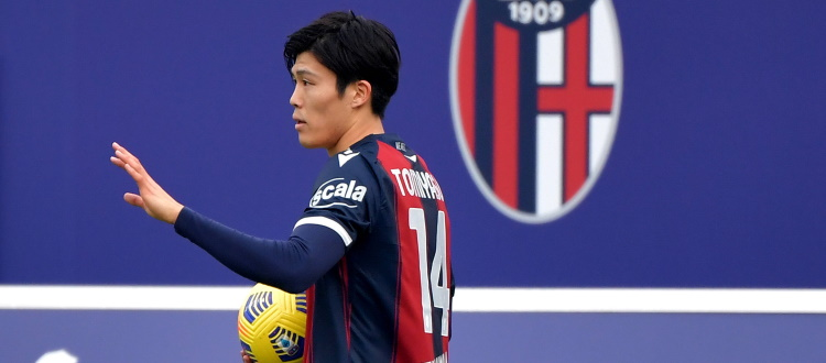 Tomiyasu saluta Bologna: