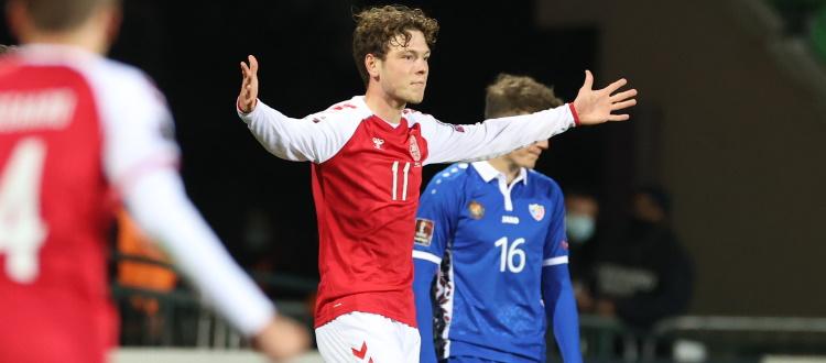 Skov Olsen ancora a segno, la Danimarca vince 4-0 in Moldavia. Buona prova anche di Svanberg con la Svezia