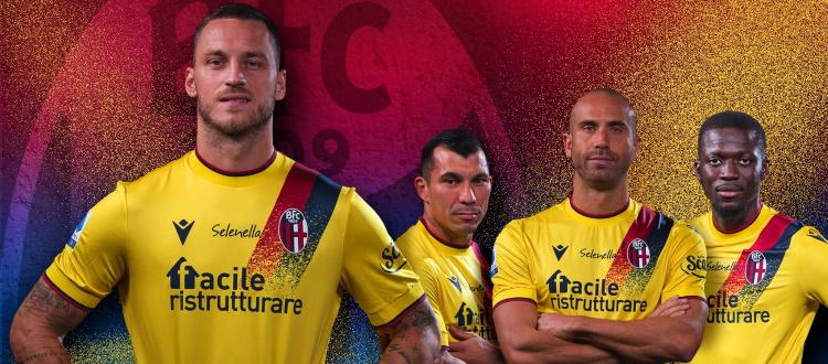 È gialla la terza maglia 2021/22 del Bologna. La mente va all'anno di Baggio e alle notti europee della stagione seguente