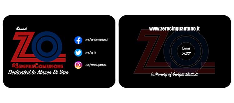 Sta arrivando la ZO Card 2022: a novembre disponibile anche da Bombocrep dei Fondatori e DrinkNow